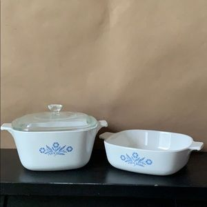 Lot of 2 Corningware 1 qt & 1 3/4 qt